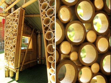 Brise-vue en bambou.