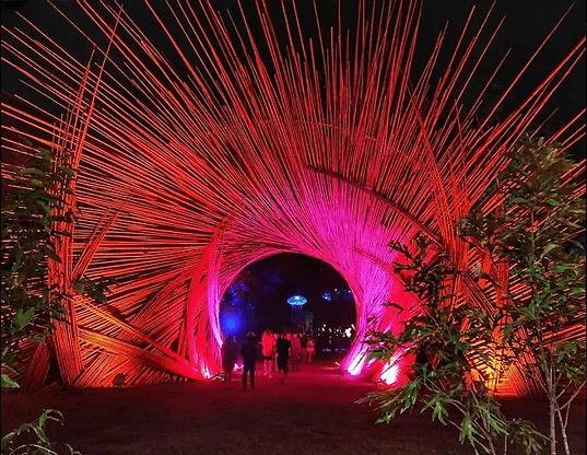 Entrée de festival bambou source d'inspiration