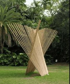 Structure décorative en bambou, source d'inspiration.