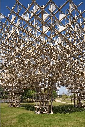 Structure gigantesque en bambou, source d'inspiration.